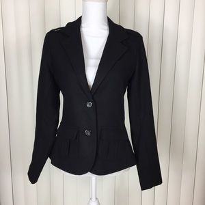 Levi's Black Wool 2 Button Blazer Jacket Small